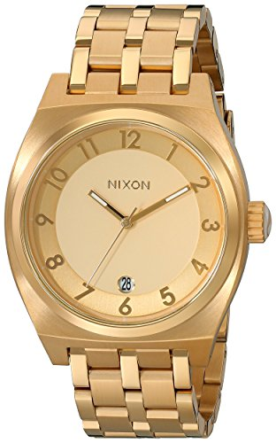 Nixon Quartz Monopoly All Gold Band Gold Dial Women