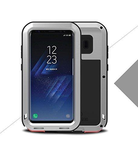 Love Mei, Galaxy S8 Plus Funda, a Prueba de Golpes, Polvo/Polvo / Nieve Aluminio Super AntiShake Silicona Protección Cuerpo para Samsung Galaxy S8 Plus