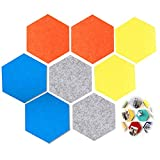 QAZRFVPXF 8 Piezas Tablero de Hexagonal Tablero de Fieltro de Color Tablero de Notas Tablero de Corcho Tablero de Fieltro Autoadhesivo para Fotos Notas Pantalla Pared Cocina Oficina DecoracióN