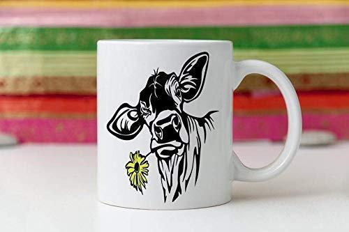N\A El Girasol y el Barro Amasado me Hacen Feliz Los Seres Humanos Hacen Que me duela la Cabeza Taza de cafe Vintage de 11 oz