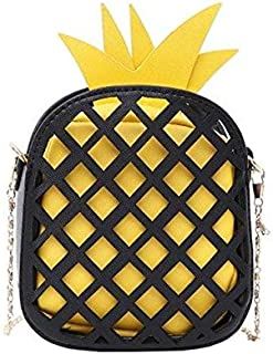 Yogodlns-polyester-Black and Yellow -small shoulder bag for girls