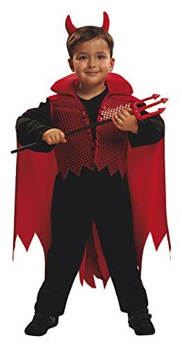 My Other Me - Disfraz de demonio, para niños de 5-6 años, color rojo (Viving Costumes MOM00066)
