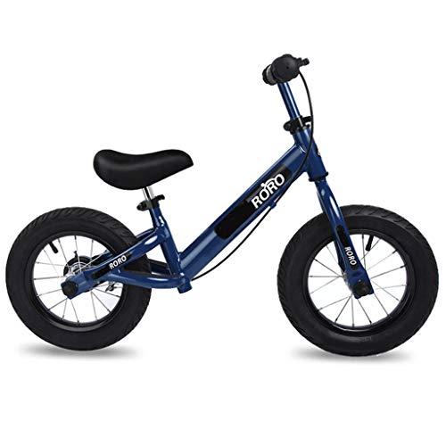 Bicicleta sin pedales Bici Bicicleta de Equilibrio con Freno de Mano - Sin Pedal de Bicicleta para niños pequeños de Girl Boy Kids 2, 3, 4, 5, 6 años, Negro/Azul/Gris/Verde/Rojo