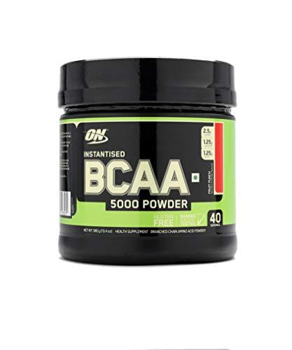 BCAA em Pó Optimum Nutrition/BCAA 5000 Powder Optimum Nutrition - Fruit Punch 380g