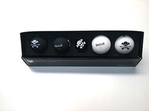 Volvik Vivid Golfbälle, Geschenkpackungen, Unisex, VV0000712, Totenkopf, 1DZ