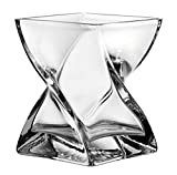 Leonardo Volare Windlicht, mit massivem Eisboden, Höhe 17 cm, handgefertigtes Klarglas, 014108