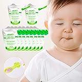 Quetschbeutel und Quetschie Löffel wiederverwendbar 10er BPA frei | einfach zu befüllen & reinigen | ideal für Smoothie, Fruchtmus, Baby Brei, Joghurt | Gefrierschrank Geschirrspüler geeignet (180 ml)
