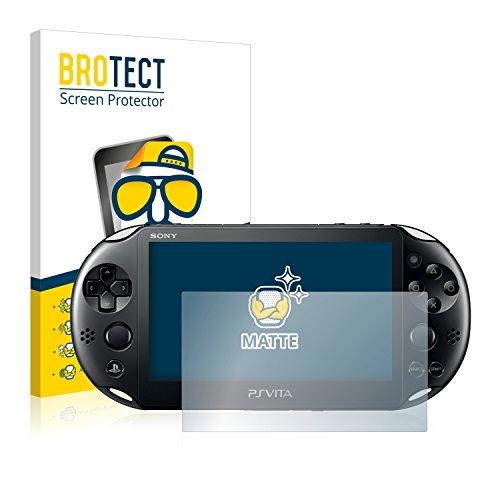 BROTECT Protector Pantalla Anti-Reflejos Compatible con Sony Playstation Vita (2 Unidades) Pelicula Mate Anti-Huellas