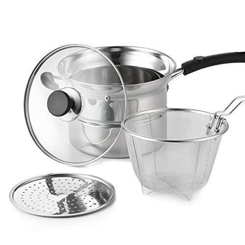 Multi Purpose Edelstahl Suppentopf Friteuse mit Korb Garblech Kochtopf for Gasherd Cooker