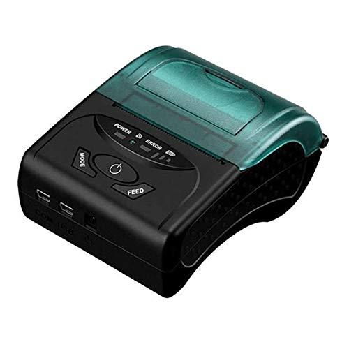 QCHEA Imprimante Thermique Bluetooth, 58mm Mini réception Portable USB sans Fil Ticket POS Impression de l imprimante, for iOS Android de Windows, for Les Affaires Supermarché Magasin