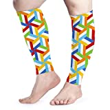 Trombus Flag Calf Compression Sleeve - Leg Compression Socks for Shin Splint Calf Pain Relief Fit for Men Women and Runners