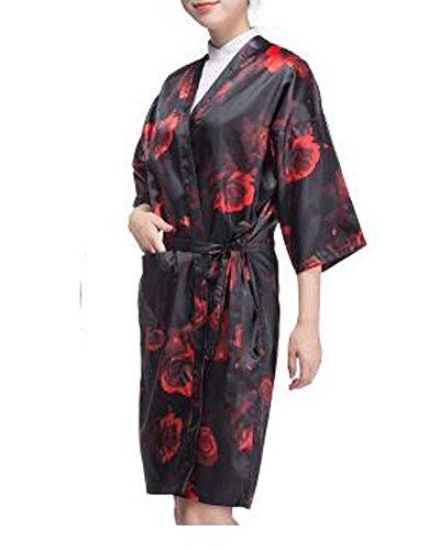 be de salon Robe de luxe Robe de salon de beauté pour les clients, Rose rouge