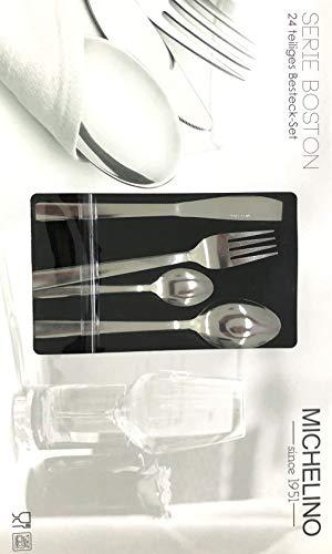 24-teiliges Besteckset - MICHELINO - je 6x Messer, Gabel, Löffel, Kaffeelöffel