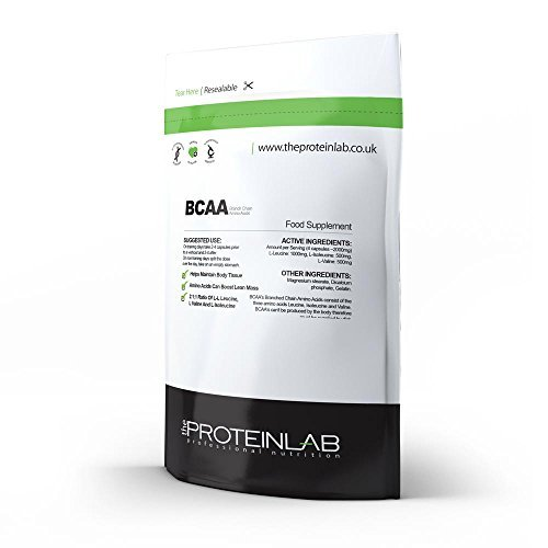 BCAA - 2000mg Per Serving - Branch Chain Amino Acid - Protein Synthesis - Muscle Building and Recovery (60 Capsules - Foil Pack)