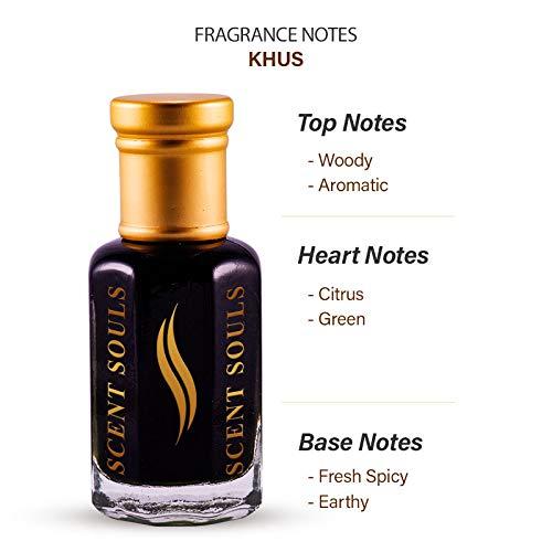Scent Souls Khus/Vetiver Perfume/Fragrance Oil Roll-on Attar/Ittar for Men and Women, 3 ml