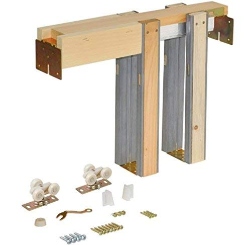 Johnson Hardware 1500 Series Commercial Grade Pocket Door Frame for 2x4 Stud Wall (28 Inch x 80 Inch)