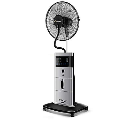 zhangxiaoli fan Standventilator- Mit Wasser Ultraschall Spray, Fernbedienung, Luftbefeuchter, Weiß Schwarz, Leise, Wasserkühlung, Nebel Funktion, Schlafzimmer