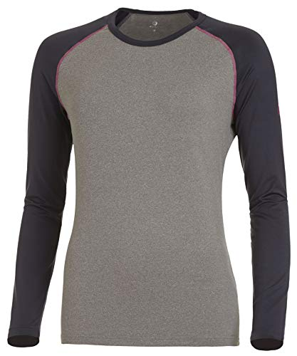 Medico Camiseta interior de manga larga para mujer, térmica, color antracita/melange/gris, talla 42