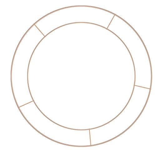 æ— 3 Pack Wire Wreath Rings, Golden Wire Wreath Frame Floral Hoop Set for DIY Dreamcatcher Valentines Decoration