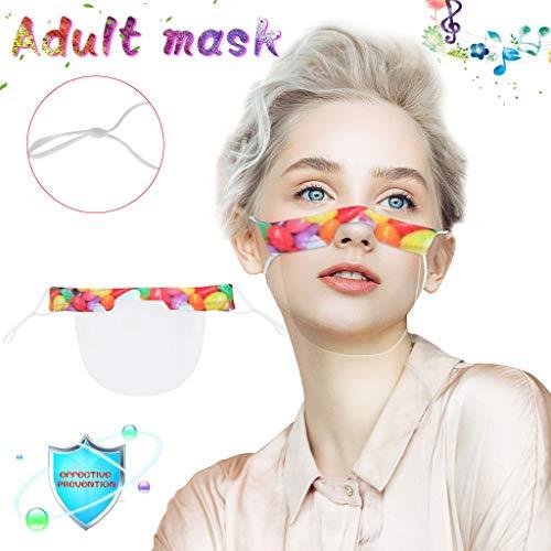 eiuEQIU Safety Gesichtsschutzschild Kunststoff Mund Wiederverwendbarer Sicherheitsgesichtsschutz Transparenter Schutz Mund Staubdichter Gesichtsschutzhut für Männer Und Frauen
