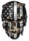 Skull with Reflective Eyes American Flag Vinyl Decal Stickers Car Truck Sniper Marines Army Navy Military Graphic