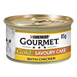 Gourmet Gold Tinned Cat Food Savoury Cake Chicken 85g (Pack of 12)