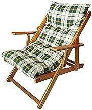 Sedia Sdraio Harmony Relax, in legno pieghevole, cuscino imbottito Colore verde