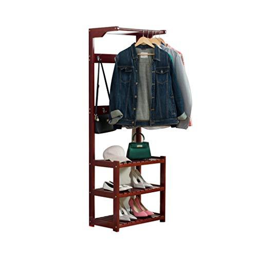 Home - Clothes Shelves Z-W-Dong La Entrada Escudo Rack, Madera sólida de múltiples Capas del Zapato Rack de Estudio de la Sala multifunción Zapatero Cambio de heces de Almacenamiento Percheros