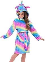 Soft Unicorn Hooded Bathrobe Sleepwear - Unicorn Gifts for Girls (10-11 Years, Rainbow Galaxy)