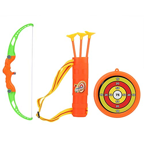 VGEBY Pfeil Und Bogen Kinder, Kinder Bogenschießen Spielzeug Set Bogen Kinder Bogen Pfeil Ziel Spielzeug Spaß Spiel Kit mit Köcher für Indoor Outdoor Garten Party