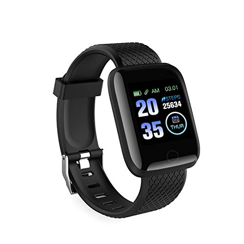 pedkit Smart Watch, Connected BT Watch 116Plus Fitness Tracker Universal Blood Pressure Walking Cardiofrequenzimetro Orologio Sportivo Orologio da Polso