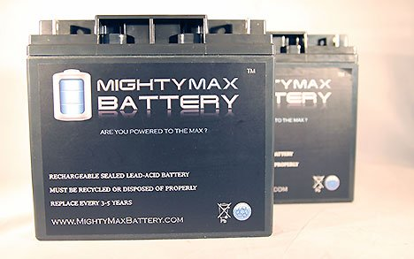 Mighty Max Battery ML18-12 - 12V 18AH Battery Replaces Pride Mobility Go-Go Elite Battery - 2 Pack Brand Product
