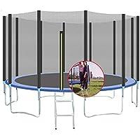 LCNING Cubierta fitness trampolín for niños, 10 pies 3M de alta elástica cama elástica, estable y silenciosa, impermeable y transpirable Mat, Una mayor red protectora, conveniente for que usted juegue