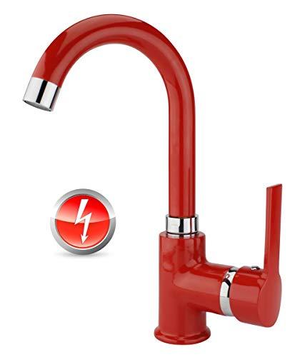 Rondo - Grifo mezclador monomando de baja presión, color rojo
