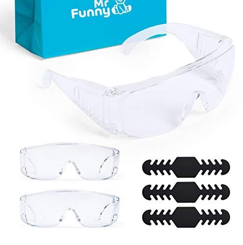 MegaPack de 3 Gafas de Protección y Seguridad Transparentes - Cómodo para Uso Diario (trabajo) con Ventilación Lateral - Anti Salpicaduras, Impactos y Polvo con Certificación Europea - Regalos Extra
