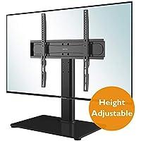 vidaXL Elevador de Monitor//Soporte de TV 80x35x17 cm Cristal Negro