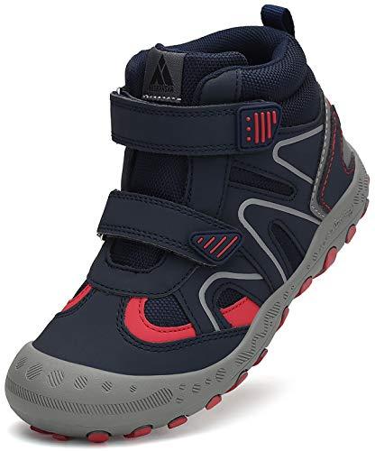 Mishansha Zapatos de Montaña Niños Ligeras Calzado de Trekking Niño Niña Antideslizante Transpirable Zapatillas para Senderismo Azul Vaquero Gr.27