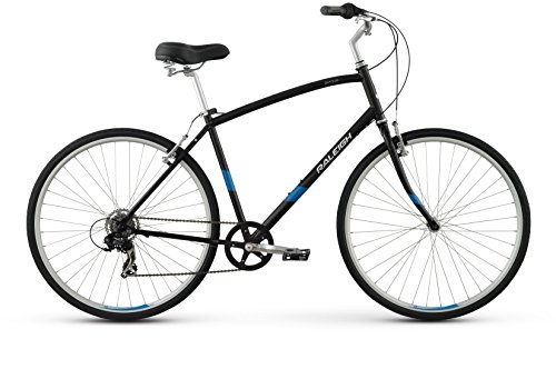 "Raleigh Detour 1 Comfort Bike, 17"" /MD Frame, Black, 17"" / Medium"