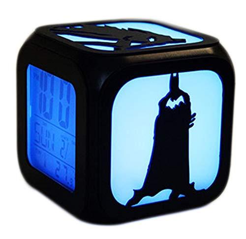 QMMCK 3D Stereo Wecker Stumm LED Nachtlicht Mode Kreative Nacht USB Lade Wecker (Sieben Farben)