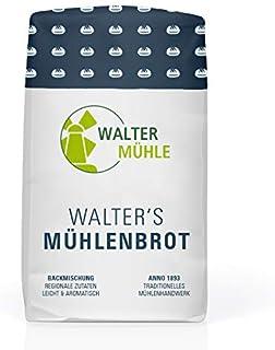 Brotbackmischung Weizen & Dinkel unbehandelt| Walter´s Mühlenbrot | Walter Mühle | 1kg 10 Pack | Premium Bäckerqualität | Natur Pur