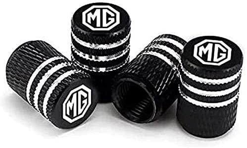 4 Piezas Metal Válvula De Neumático De Automóvil para MG ZS EV HS GS GT TF ZR 3 5 6 7 EZS EHS MG3 MG6, Ruedas Cubierta de Polvo Tapas, Aire de vástago de neumático Cubiertas herméticas