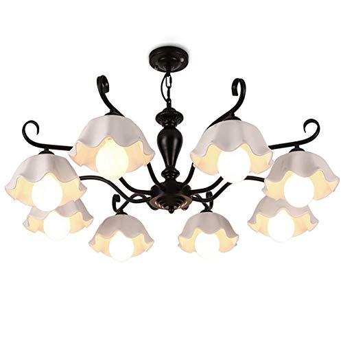 Casual Lámparas de cerámica recién Hermosas, Estilo Americano Pastoral Minimalista Retro Luces de la habitación HAODAMAI (Size : 8lamp)