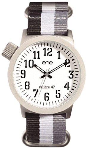 eNe Herren Analog Quarz Uhr mit Nylon Armband E71923