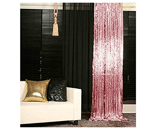 Sequin Backdrop Sequin Backdrop Curtain Sequin Curtains 2 Panels Sequin Photo Background (3FTx6FT, Fuchsia Pink)