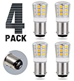SRRB Performance 12V AC/DC LED Replacement 1004 / 1076 / 1142 /2057 Light Bulb for RV Camper Travel Trailer Motorhome 5th Wheels and Marine Boat (4 Pack, Warm White)