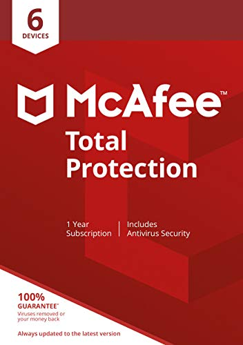McAfee Total Protection 2020 | 6 Device | 1 Year | Antivirus Software,...