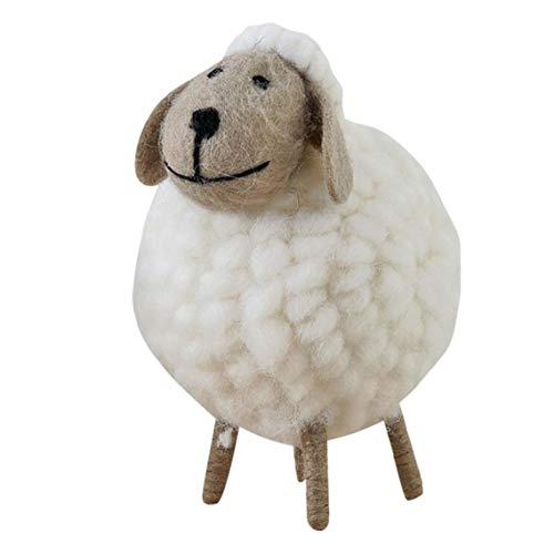 Lana de Fieltro de Lana de Oveja Forma sintió Adorno del Sitio de niños de la decoración de Fieltro Blanco para el Partido del Festival de Navidad L Tamaño
