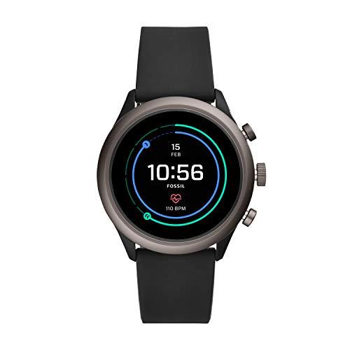 Fossil Herren-Smartwatch mit Silikon Armband FTW4019
