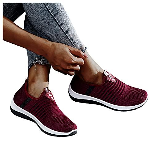 Dasongff Chaussures de course pour femme - Chaussures de sport plates - Respirantes et confortables - Chaussures de loisirs - Chaussures de randonnée pour femme