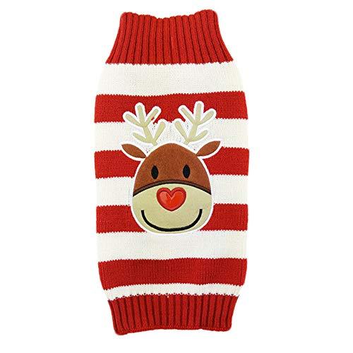 ZHAOXUAN-Hund kleidet Welpenstrickjacke neues Jahr-Weihnachtshaustier kleidet zweibeinige Kleidung